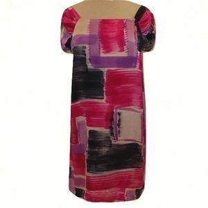 BB Dakota Silk Print Shift Dress/Tunic- Size Large